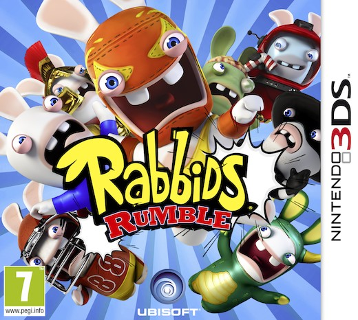 "Packshot for ""Rabbids Rumble 3DS"""