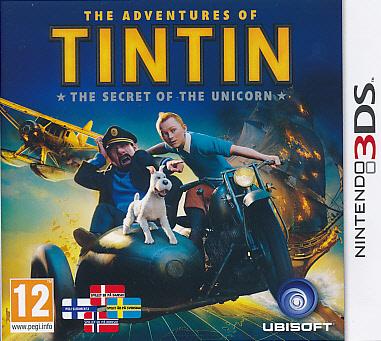 "Packshot for ""Tintin Secret of the Uni. NORD 3DS"""
