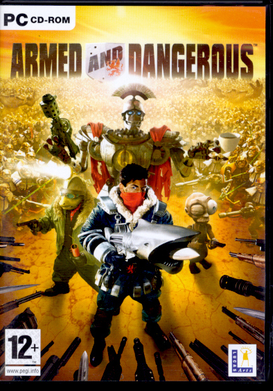 "Packshot for ""Armed & Dangerous PC"""