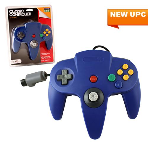 "Packshot for ""N64 Classic Controller Blue TTX"""