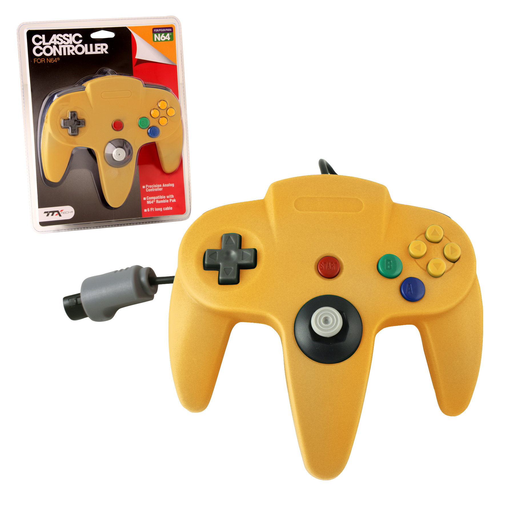 """Packshot for """"N64 Classic Controller Yellow TTX"""""""