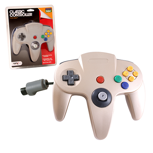 "Packshot for ""N64 Classic Controller Gold TTX"""