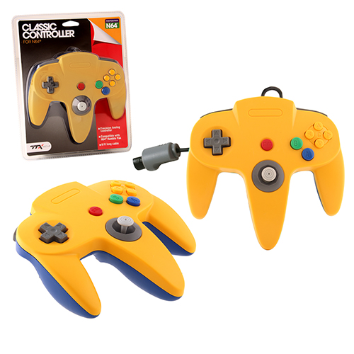 "Packshot for ""N64 Classic Controller Yell/BlueTTX"""