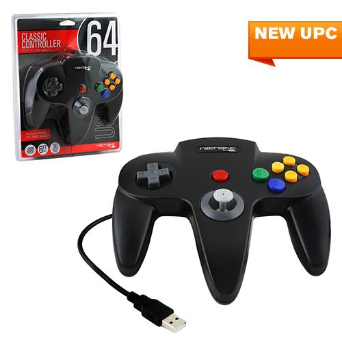 """Packshot for """"N64 Controller USB Black Retrolink"""""""