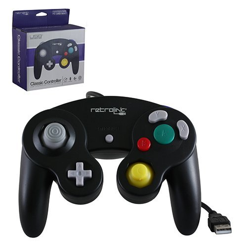 "Packshot for ""Gamecube Pad USB Black Retrolink"""
