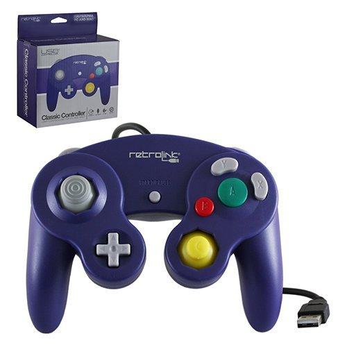 "Packshot for ""Gamecube Pad USB Purple Retrolink"""