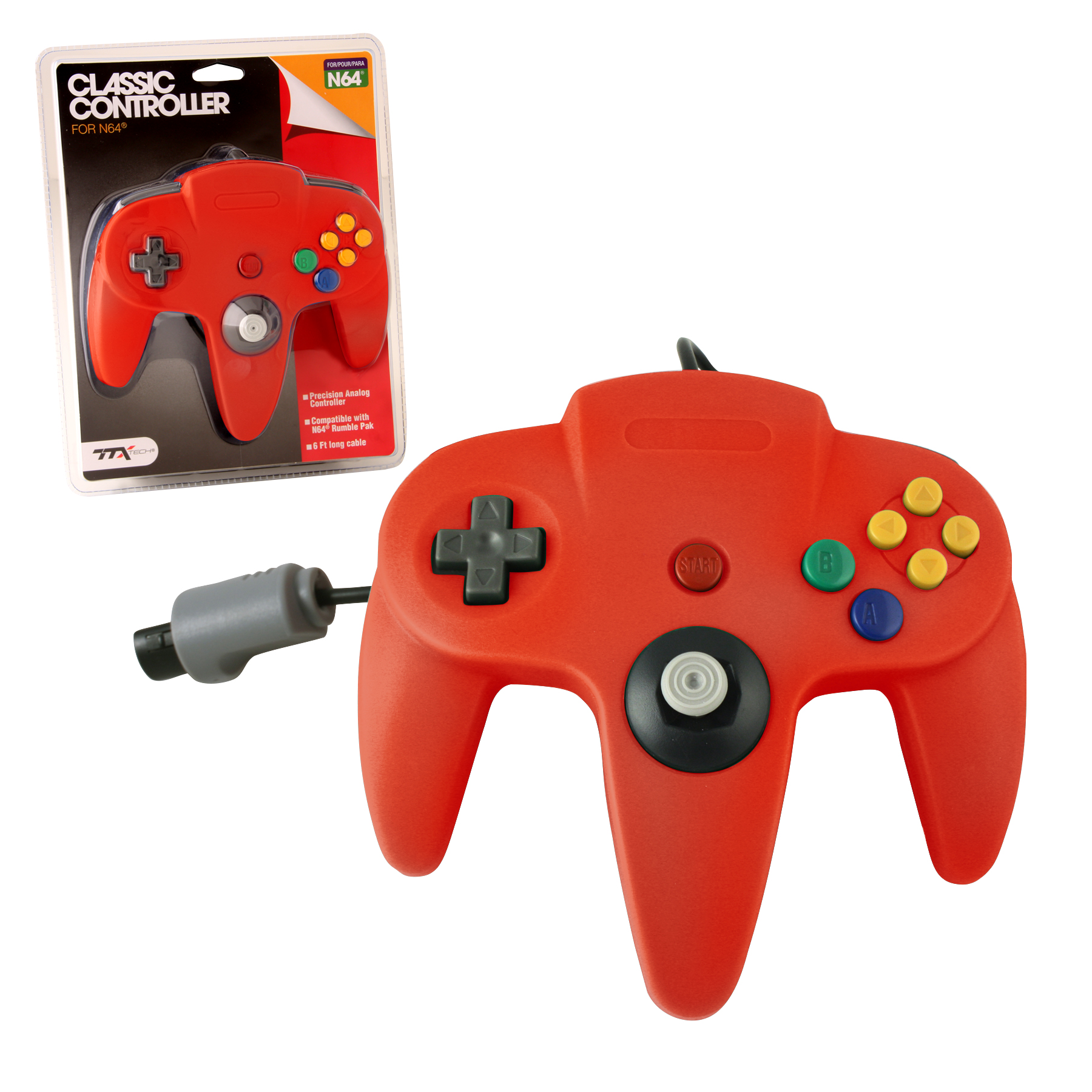 """Packshot for """"N64 Classic Controller Red TTX"""""""