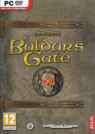 "Packshot for ""Baldurs Gate PC"""