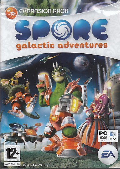 "Packshot for ""Spore Galactic Adventure PC"""