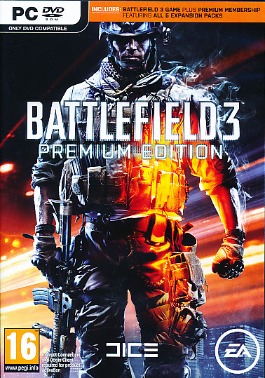 "Packshot for ""Battlefield 3 Premium PC"""