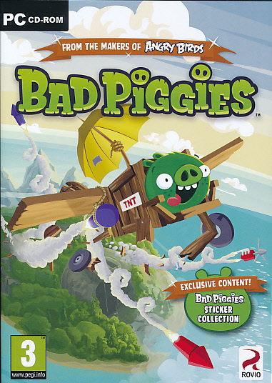 """Packshot for """"Angry Birds Bad Piggies PC"""""""