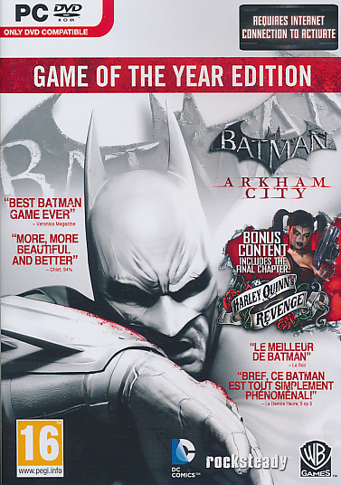 "Packshot for ""Batman Arkham City GOTY PC"""