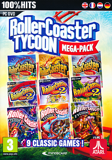 "Packshot for ""RollerCoaster Tycoon 9 Megapack PC"""