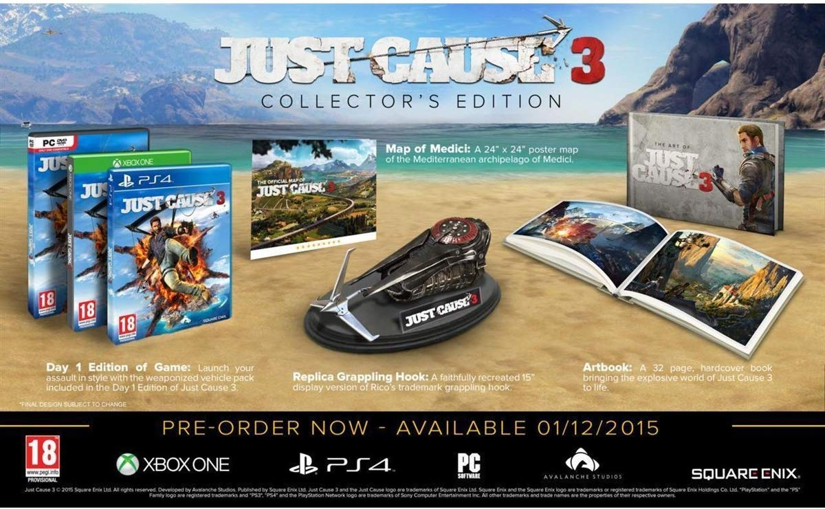 "Packshot for ""Just Cause 3 Coll. Ed. PC"""