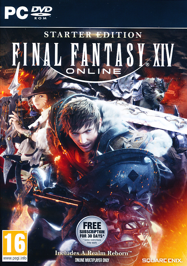 "Packshot for ""Final Fantasy XIV Online Starter PC"""