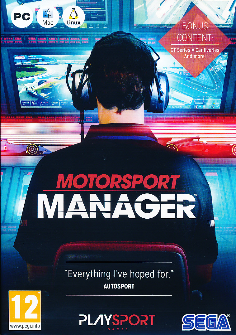 "Packshot for ""Motorsport Manager PC"""