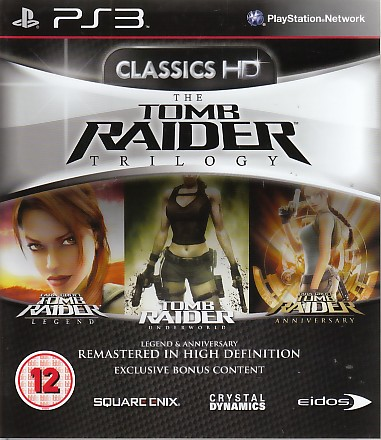 "Packshot for ""Tomb Raider Trilogy BBFC PS3"""