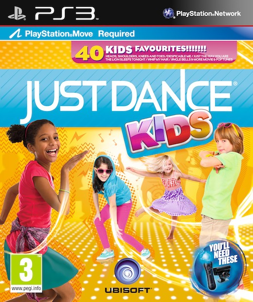 "Packshot for ""Just Dance Kids Move Ed. PS3"""