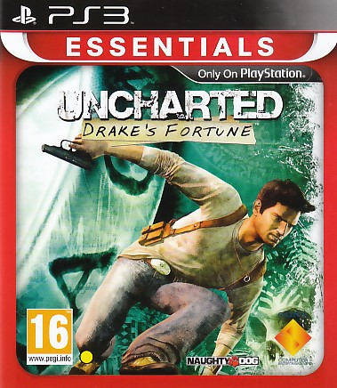 "Packshot for ""Uncharted Drakes Fortune Ess. PS3"""