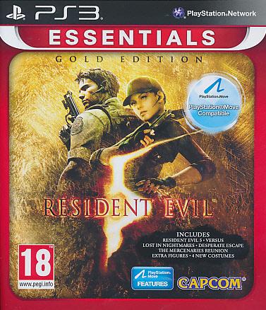 """Packshot for """"Resident Evil 5 GOLD Move Ed.EssPS3"""""""