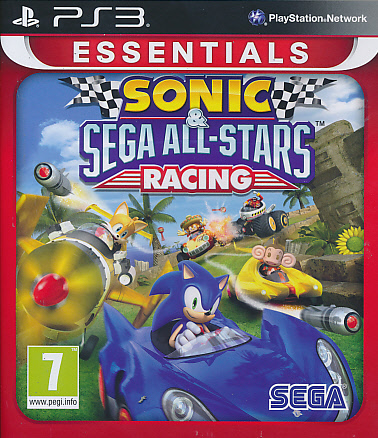 "Packshot for ""Sonic & Sega ASR Essentials PS3"""
