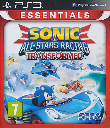 "Packshot for ""Sonic & Sega ASR Transform. Ess.PS3"""