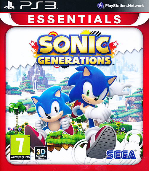 "Packshot for ""Sonic Generations Essentials PS3"""