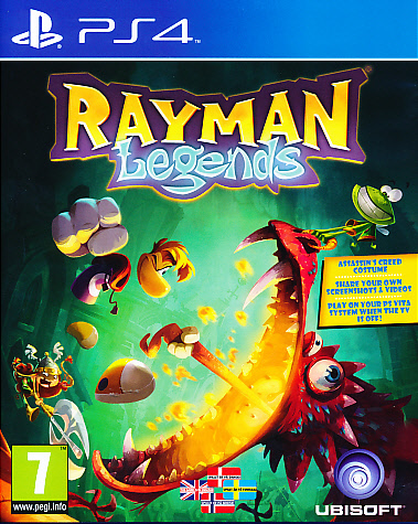 "Packshot for ""Rayman Legends PS4"""