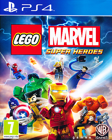 "Packshot for ""Lego Marvel Superheroes PS4"""