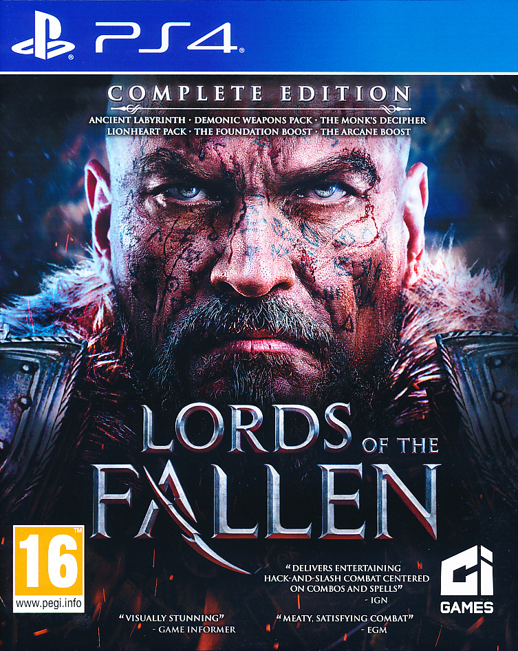 "Packshot for ""Lords of the Fallen Limited Ed. PS4"""