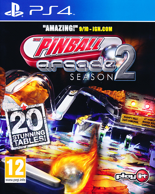 "Packshot for ""Pinball Arcade Season 2 PS4"""