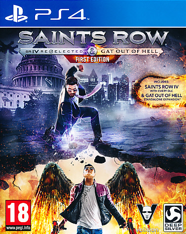 "Packshot for ""Saints Row IV Re&Gat First Ed. PS4"""