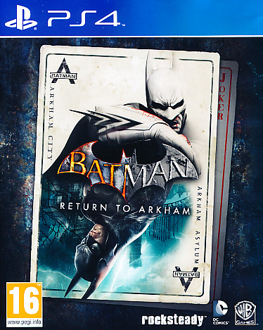 "Packshot for ""Batman Return to Arkham PS4"""
