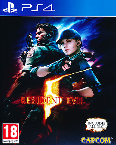 "Packshot for ""Resident Evil 5 HD PS4"""