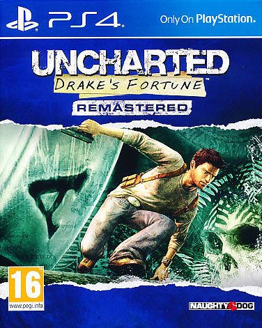 "Packshot for ""Uncharted Drakes Fortune PS4"""