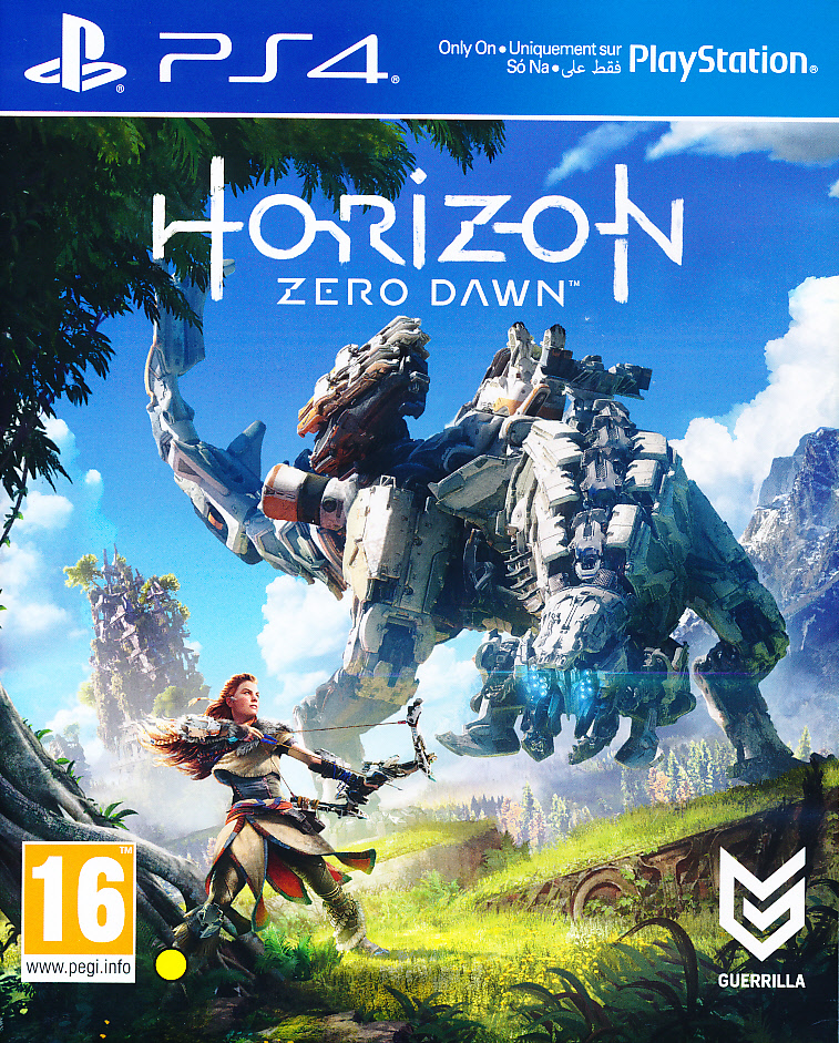 "Packshot for ""Horizon Zero Dawn PS4"""