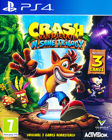 "Packshot for ""Crash Bandicoot N.Sane Trilogy PS4"""