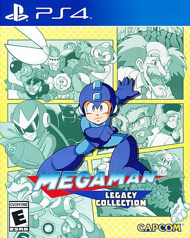 """Packshot for """"Mega Man Legacy Coll. ESRB PS4"""""""