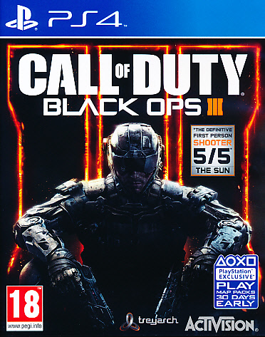 "Packshot for ""Call of Duty Black Ops 3 PS4"""