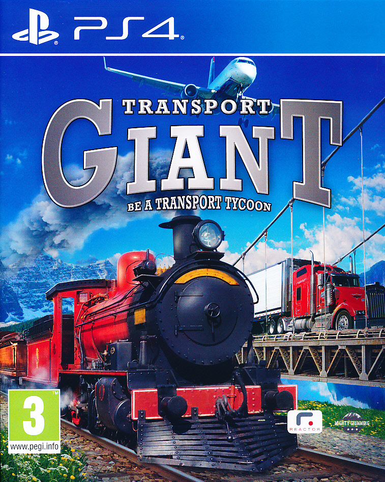 "Packshot for ""Transport Giant Be a Tycoon PS4"""
