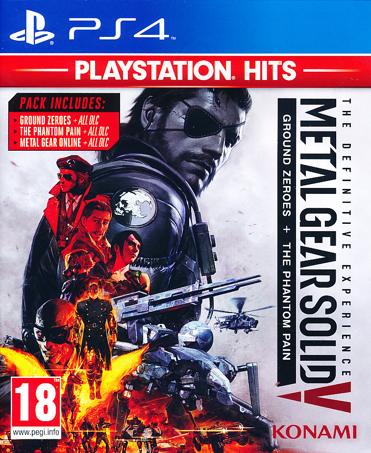 "Packshot for ""MGS V Definitive Experience PS4"""