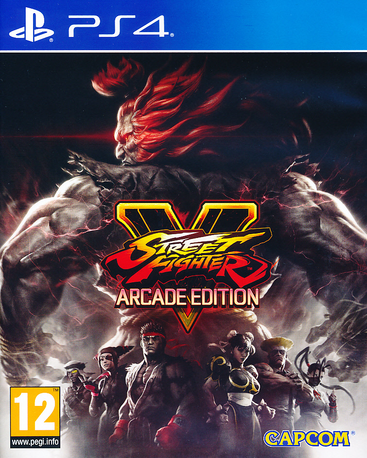 "Packshot for ""Street Fighter V Arcade Edition PS4"""