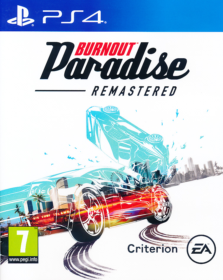 "Packshot for ""Burnout Paradise Remastered PS4"""