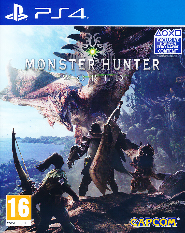 "Packshot for ""Monster Hunter World PS4"""