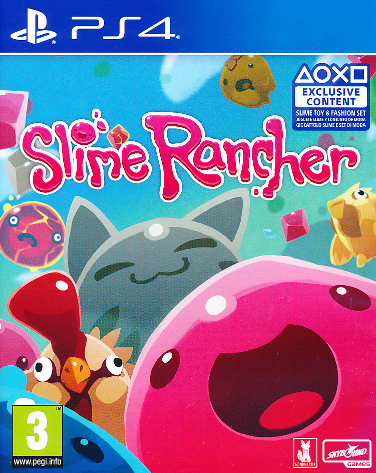 "Packshot for ""Slime Rancher PS4"""