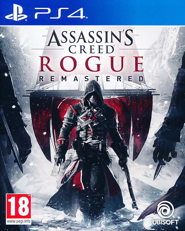 "Packshot for ""Assassins Creed Rogue RemasteredPS4"""