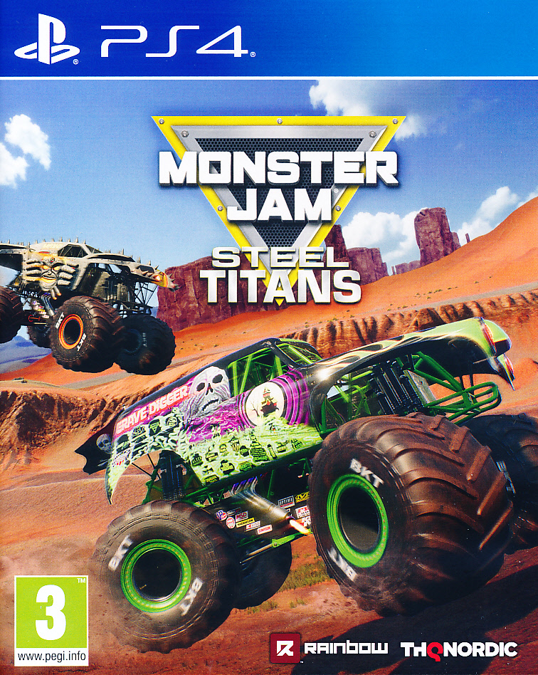 "Packshot for ""Monster Jam Steel Titans PS4"""