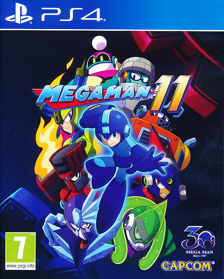 "Packshot for ""Mega Man 11 PS4"""
