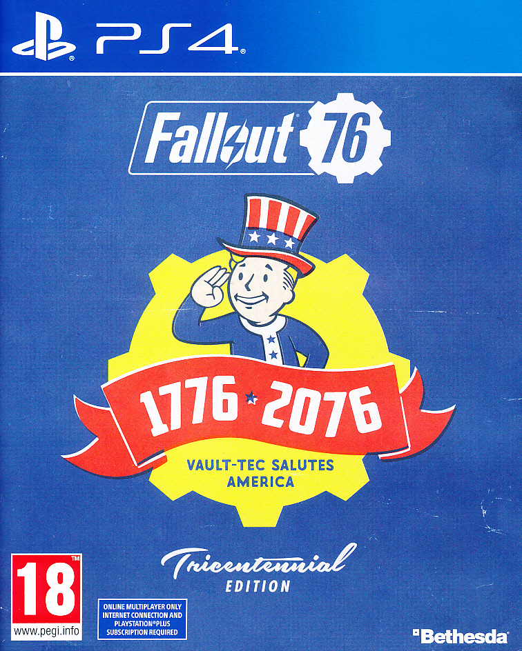 "Packshot for ""Fallout 76 Tricentennial Ed. PS4"""