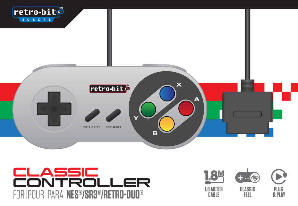 "Packshot for ""Retro-Bit SNES Classic Controller"""